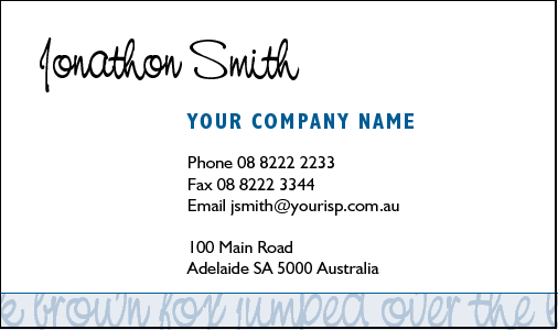 Business Card Design 341 for the Tutors Industry.
