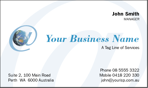 Business Card Design 489 for the IT Industry.