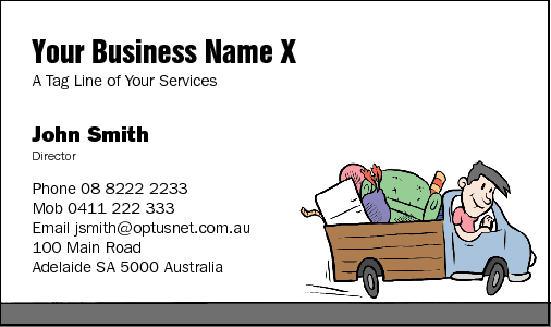 Business Card Design 35 for the Rubbish Removal Industry.