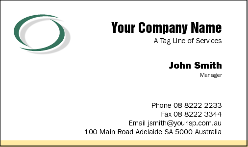 Business Card Design 18 for the Consulting Industry.
