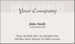 Business Card Design 343 for the Insurance Industry.