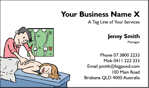 Business Card Design 41 for the Massage Industry.