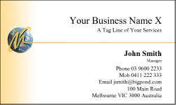 Business Card Design 10 for the Aviation Industry.