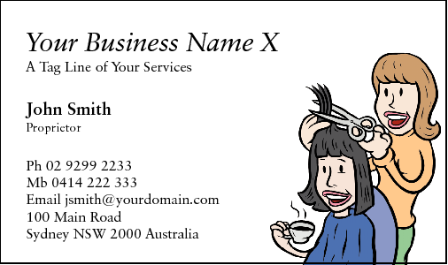 Business Card Design 30 for the Hairdressing Industry.