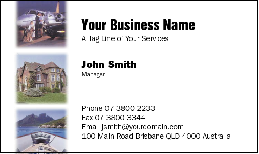 Business Card Design 9 for the Insurance Industry.