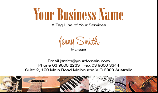 Business Card Design 636 for the Music Industry.