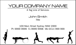 Business Card Design 832 for the Fitness Industry.