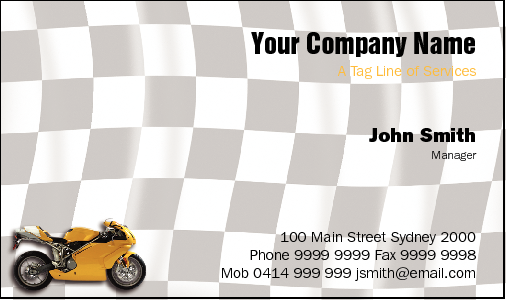 Business Card Design 836 for the Mechanical Industry.