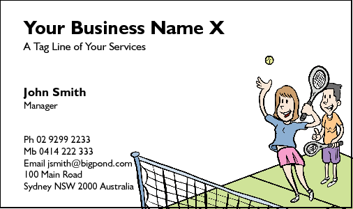Business Card Design 214 for the Sports Industry.