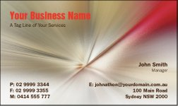 Business Card Design 789 for the Designer Industry.