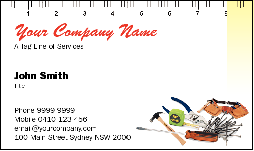Business Card Design 781 for the Handyman Industry.