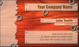 Business Card Design 802 for the Fencing Industry.