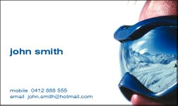 Business Card Design 550 for the Sports Industry.
