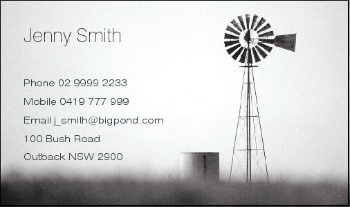Business Card Design 529 for the Farming Industry.