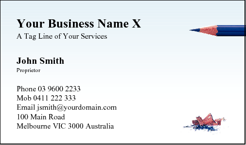 Business Card Design 66 for the Writers Industry.