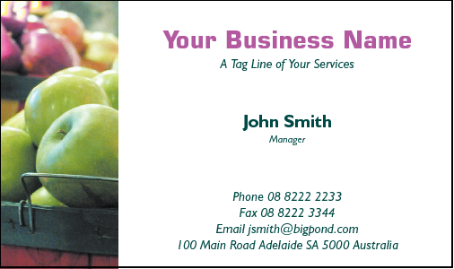 Business Card Design 634 for the Grocers Industry.