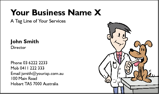 Business Card Design 218 for the Veterinarian Industry.