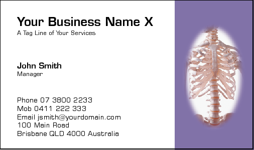 Business Card Design 181 for the Physiotherapy Industry.
