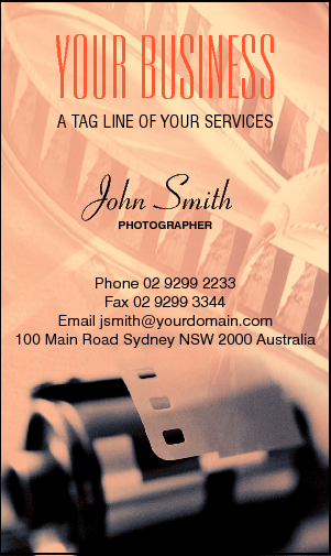 Business Card Design 637 for the Photography Industry.