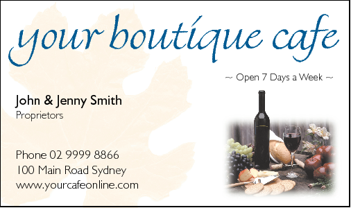 Business Card Design 503 for the Wine Industry.