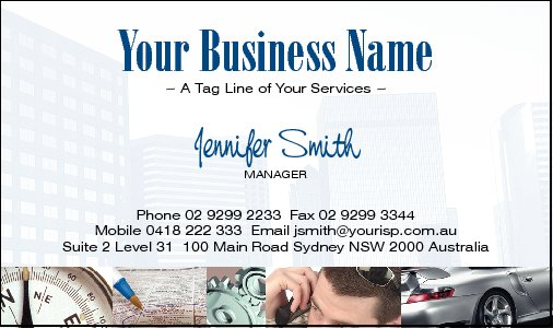 Business Card Design 559 for the HR Industry.