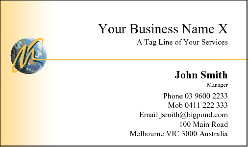 Business Card Design 10 for the Removalist Industry.