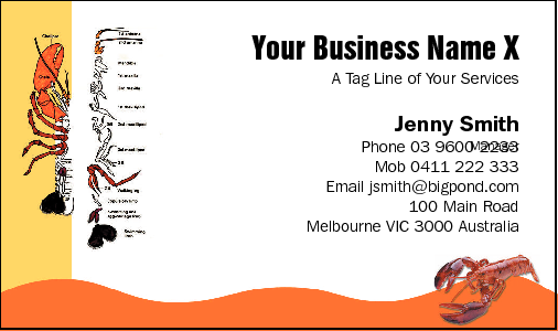 Business Card Design 433 for the Take Away Industry.