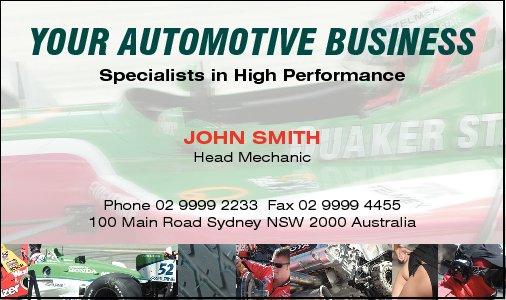 Business Card Design 522 for the Automotive Industry.
