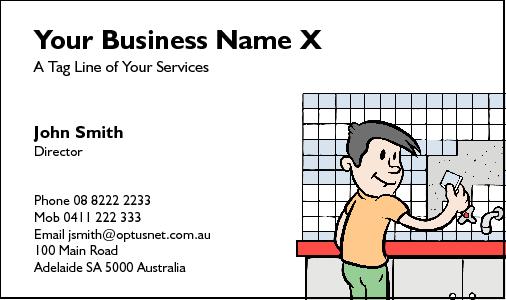 Business cards for tilers for Tiler business card