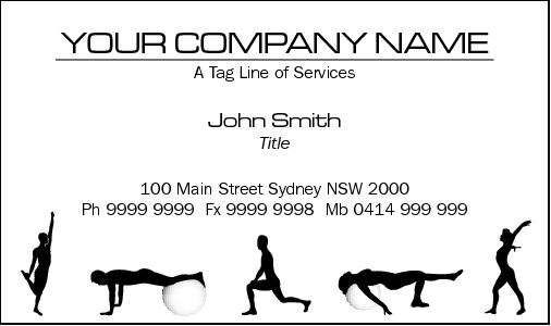 Business Card Design 832 for the Personal Training Industry.