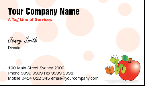 Business Card Design 798 for the Tutors Industry.
