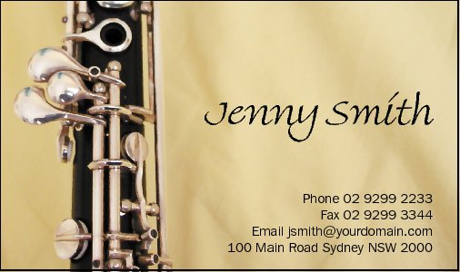 Business Card Design 635 for the Music Industry.