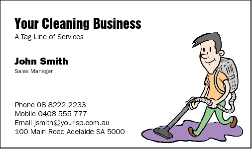 Business Cards for Cleaning