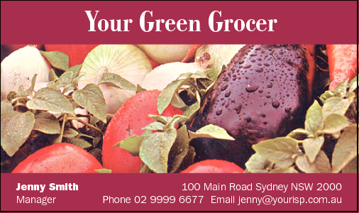 Business Card Design 515 for the Grocers Industry.